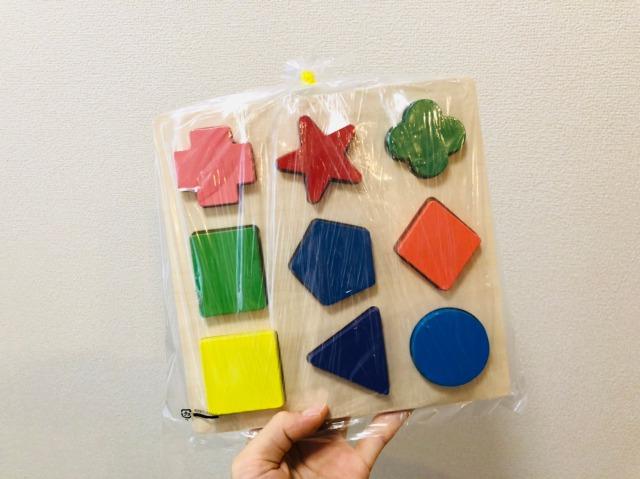 木製形合わせパズル