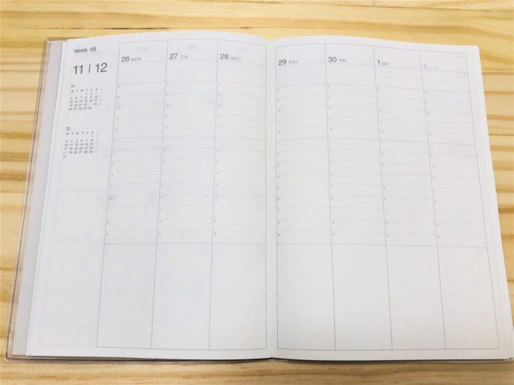 無印 バーチカル手帳